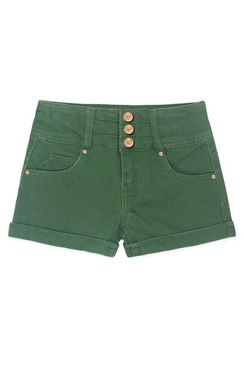 Super Yummy Denim Wash Shorts w/ 3 Buttons