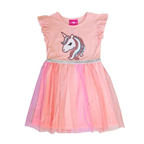 Unicorn Sequins Rainbow Tulle Dress
