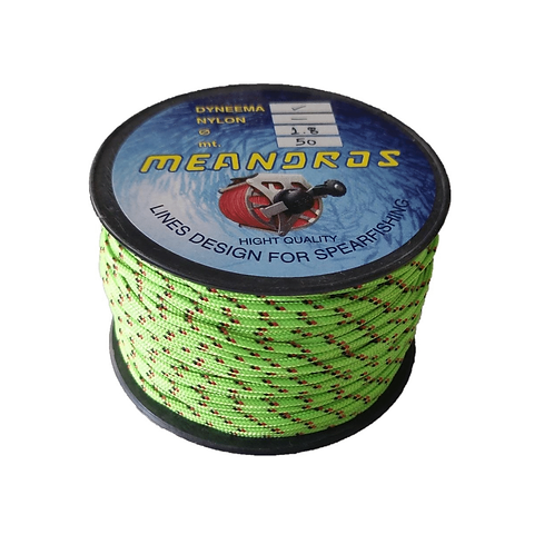 Meandros 1.8mm Dyneema Polyester Toxic Green (50mtr)