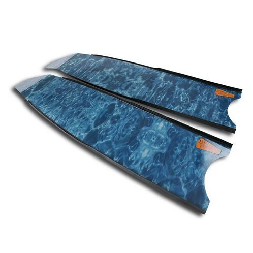 Leaderfins Blue Camo Fiberglass