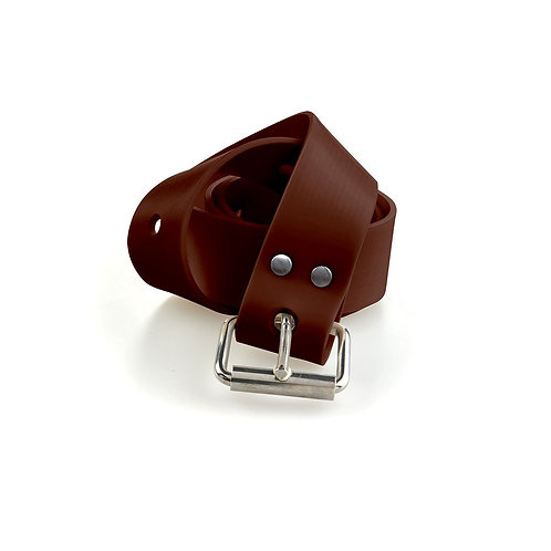C4 Brown Silicone Belt with Marseille Buckle