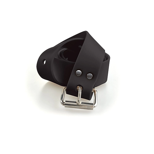C4 Black Silicone Belt with Marseille Buckle