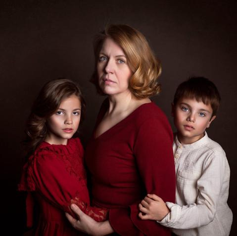 retratos familia