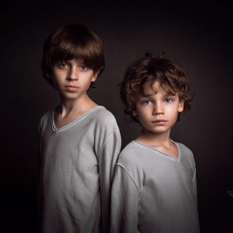 retrato niños