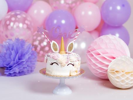 Sesión Cumpleaños para Bebés en estudio. Smash Cake. Tartas especiales.