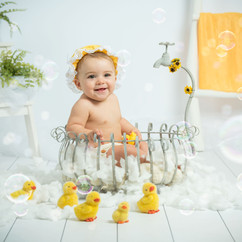 fotos bebe bañera