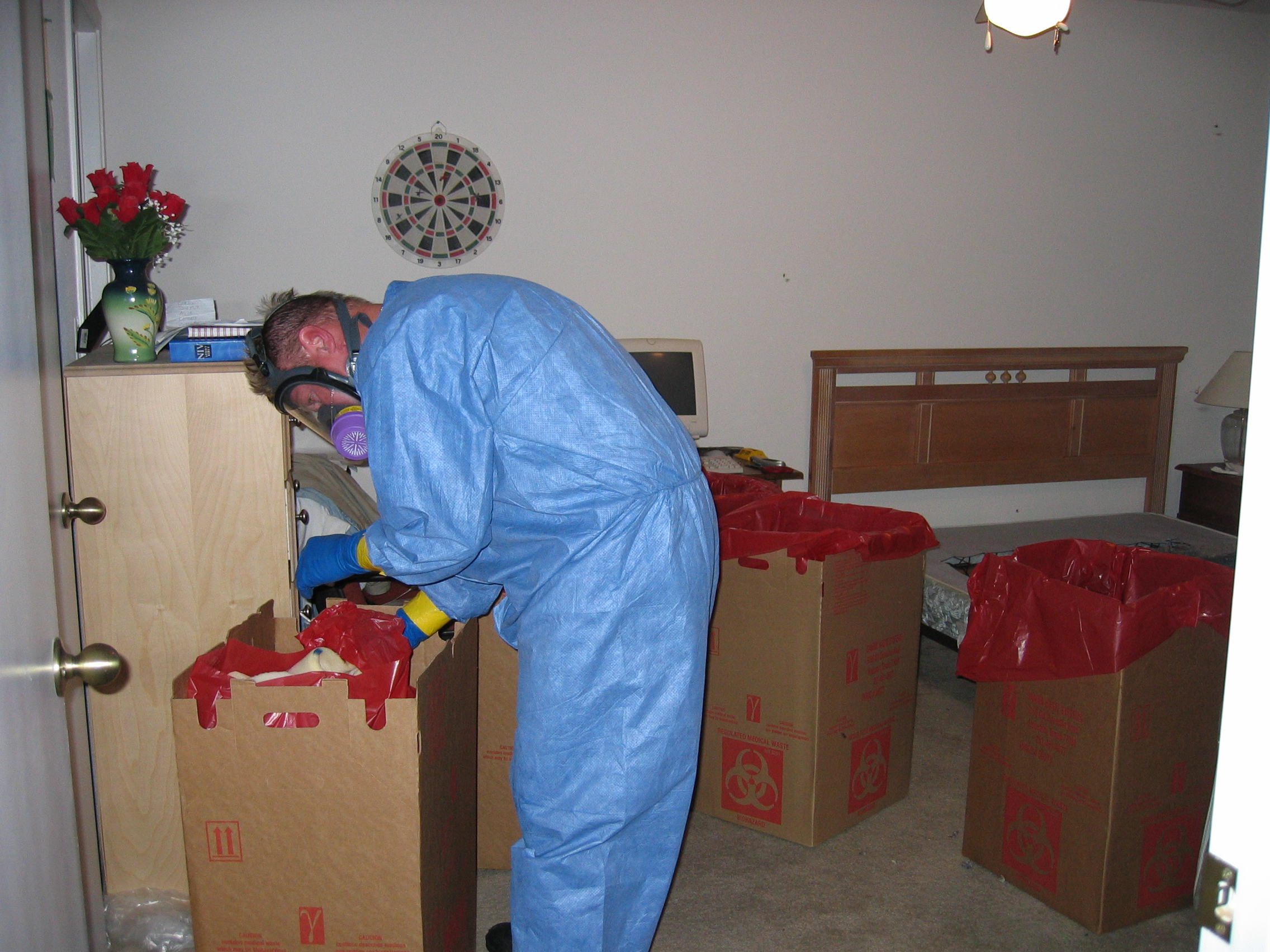 biohazard boxes with decomposition