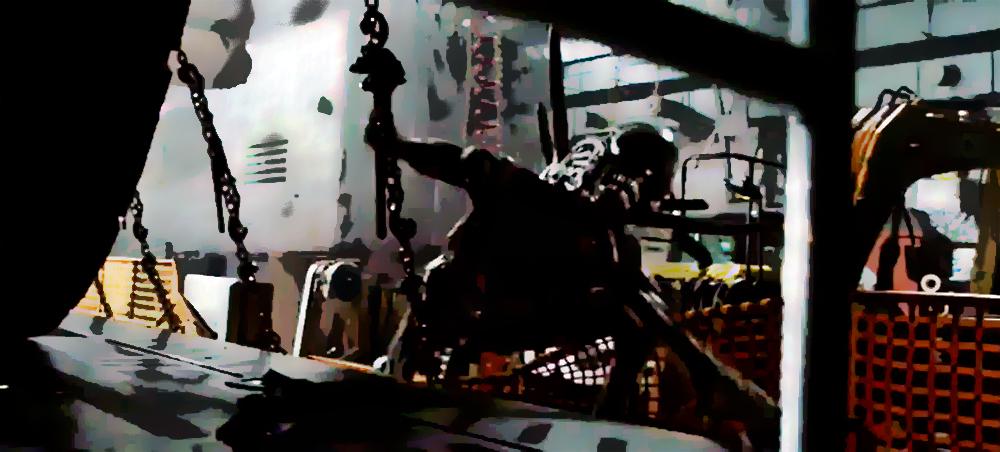 Xenomorph in Covenant Cargo Bay