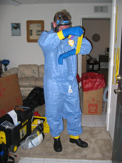 biohazard tech in bb path suit