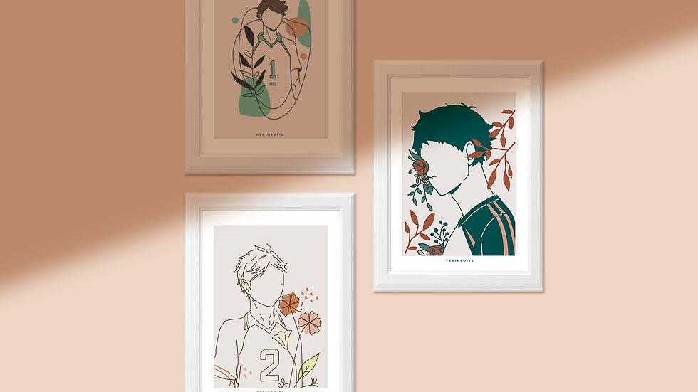 Haikyuu! Minimalist Prints