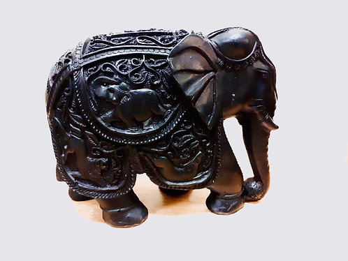 """6""""x8"""" Marble Resin Hand Made Elephant"""
