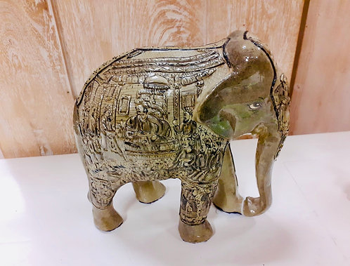 "8"" Kashmiri Handcarved Elephant"