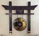 Oriental wall sculpture
