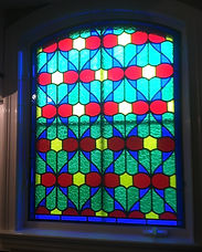 stained glass bath window