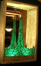 stained glass wall sculpture Faucet