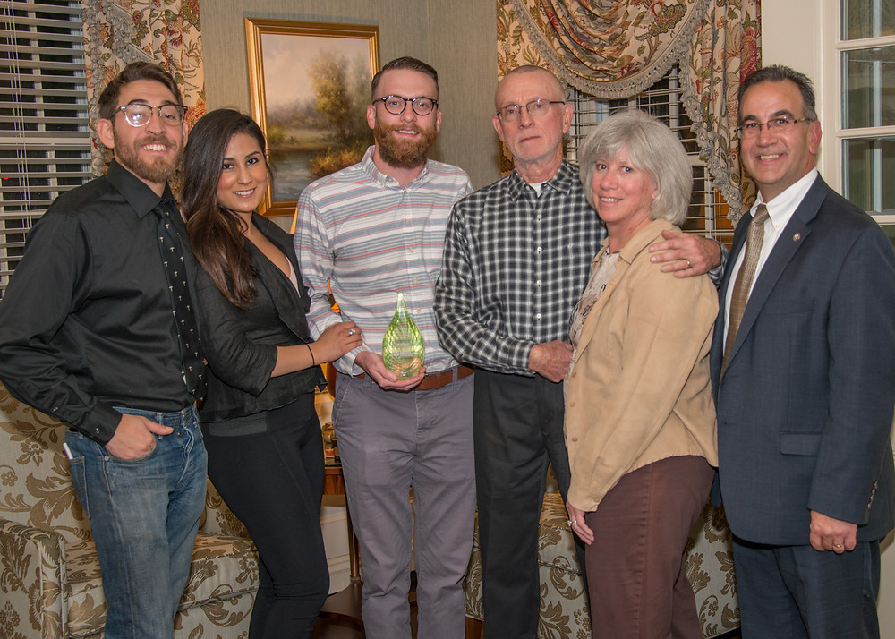 Alex with his parents, Helen and Jeff; his girlfriend, Karina; Sam from Blue Earth; and NERC Board President, Robert Isner