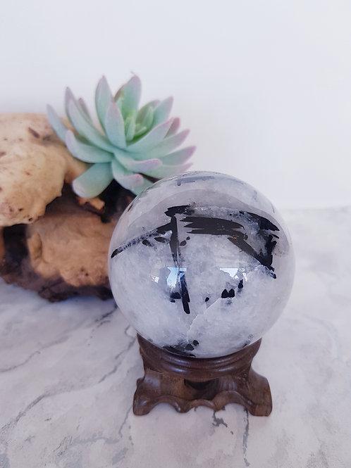 Tourmalated Quartz Crystal Ball