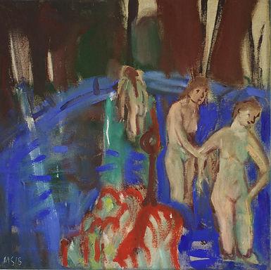 page 2 (3)   baigneuses dans l'étang, é