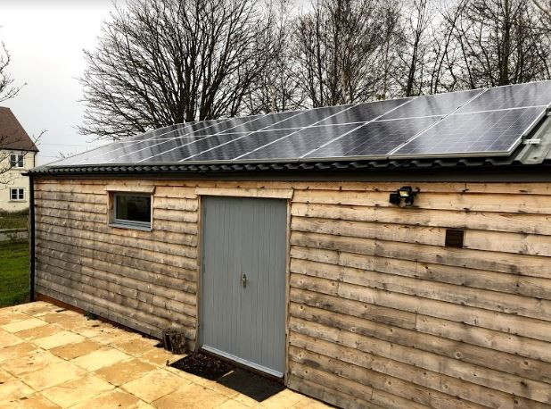 Solar Panels Fitted to Changing Rooms on  Alderton Playing Fields