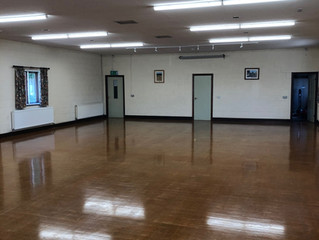 New LED Lighting Fitted to Alderton Village Hall