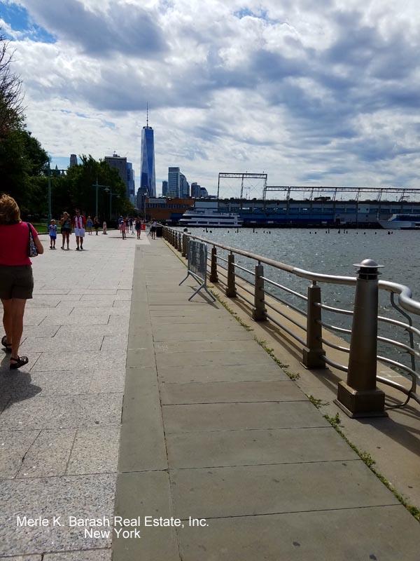 Freedon tower via pier. Watermarked