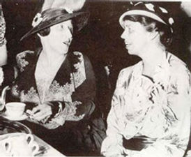 In 1933 Eleanor Roosevelt (right) accompanied by Miss May Strang (left)  opened the Kate Depew Strang Clinic.