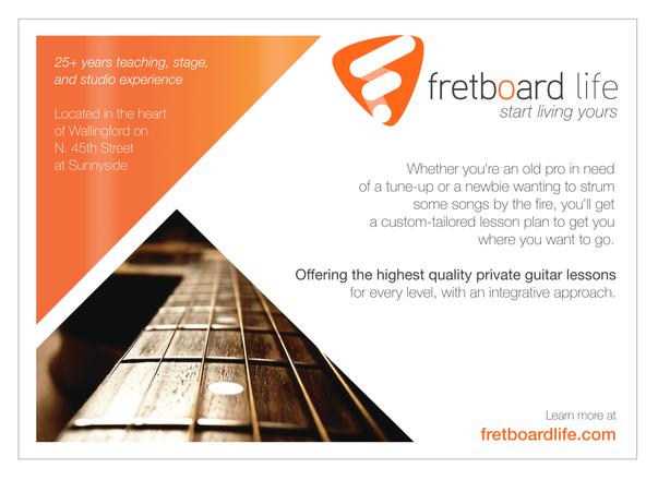 Promotional Postcard for Fretboard Life