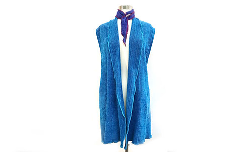 Turquoise Vest w/ Shawl Collar