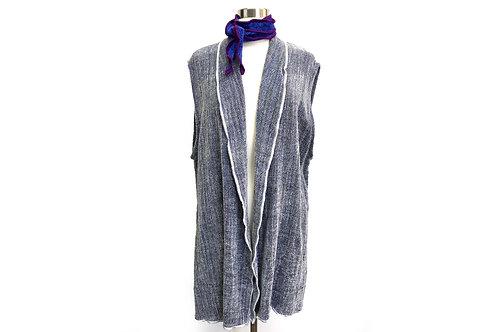 Pale Gray Vest w/ Shawl Collar