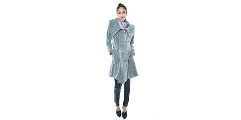 Spring Twigs Coat with PinTucks
