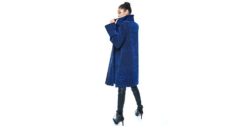 Quilted Coat Midnight Teal