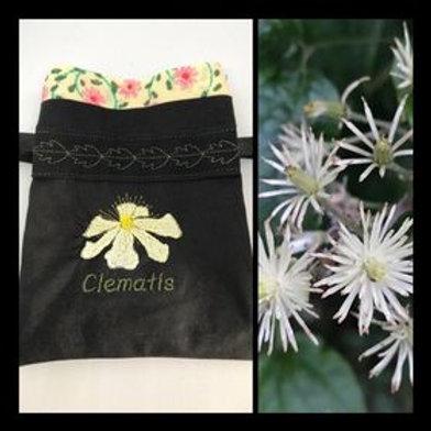 """""""Clematis"""" Flower drawstring bag"""