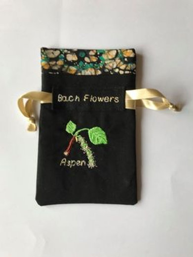 """Aspen"" Flower drawstring bag"