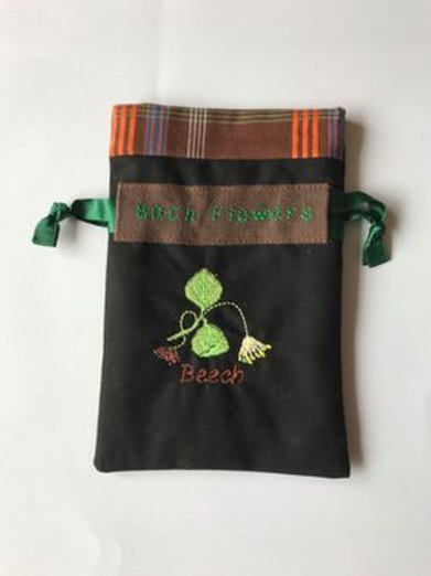 """Beech"" Flower drawstring bag"