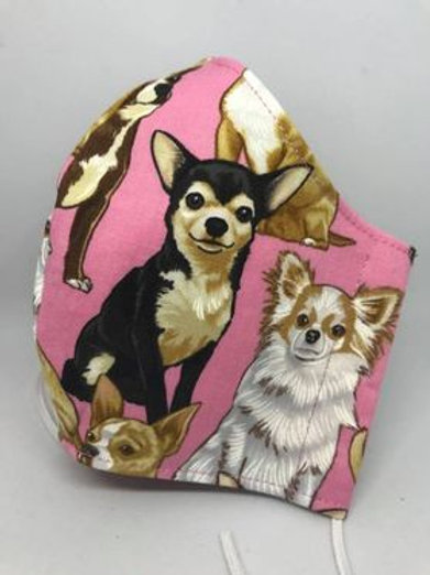 Chihuahua dogs and pretty pink