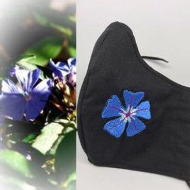 Cerato flower on black fabric