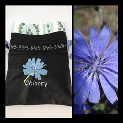 """Chicory"" Flower drawstring bag"