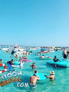 pontoon rental santa rosa beach crab isl