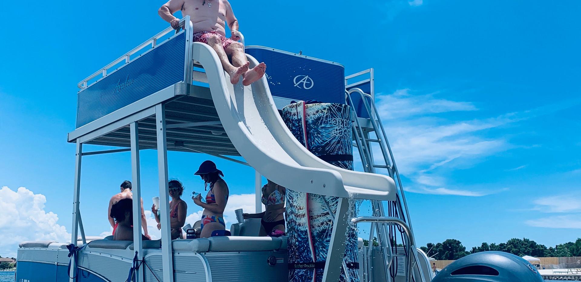 pontoon rental with slide santa rosa bea