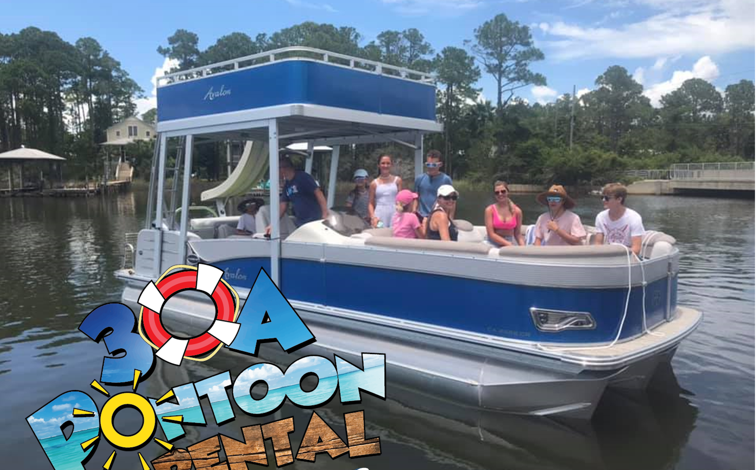 pontoon rental double decker santa rosa