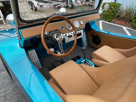 30a Beach Buggy front seat and dash sant