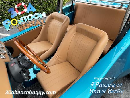 Why rent a Golf Cart, when you can rent a 4 passenger Beach Buggy?