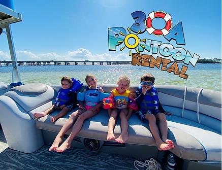 pontoon rental rosemary beach kids on bo