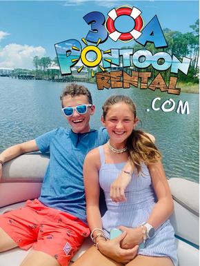 rosemary beach pontoon rental happy face