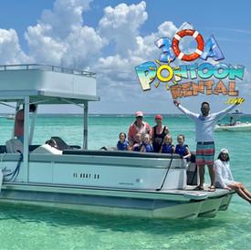 pontoon rental 30a white boat double decker.jpg