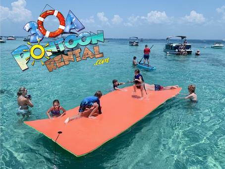30a pontoon rental floating pad.jpg