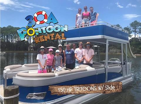 pontoon rental rosemary beach 150 hp tri