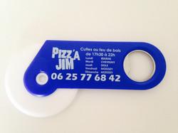 Couteaux à pizza bleus