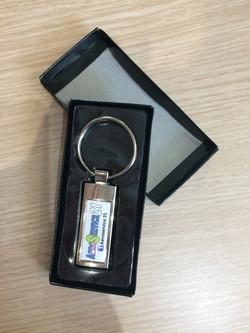 Porte-clés domé