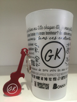 Gobelet / Porte-clés Guitare